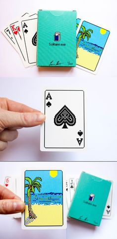 Real Solitaire playing cards, complete with pixelated sprites.