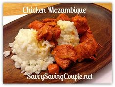 How To Make Chicken Mozambique- Our With Chicken, Sazon Goya, Unsalted Butter, Garlic Cloves, Hot Sauce, White Wine, Rice Side Dish