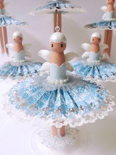 How to Make Snowy Dolly Peg Fairies