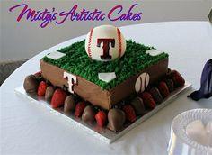 Texas Rangers cake for Blakey! Texas Rangers Cake, Cake Cookies, Cupcake Cakes, Yummy Treats, Sweet Treats, Creative Cakes, Love Cake, Cake Designs, Afternoon Tea