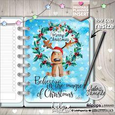Christmas Planner Insert, Printable Planner Insert, Planner Divider, Planner Quotes, Erin Condren, Planner Dashboard, Kawaii Planner, DIY