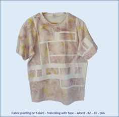 Fabric painting on t-shirt - Stencilling with tape – Albert's design No 4