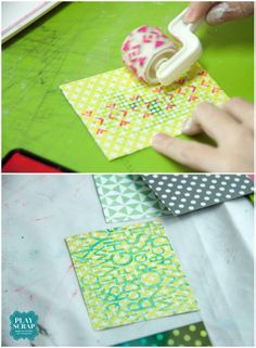 Crónica del Taller de Scrapbooking: Mini álbum  Cajita China- Roller roller!!! Mini Scrapbook Albums, Playing Cards, Mini Albums, Atelier, Crates, Playing Card
