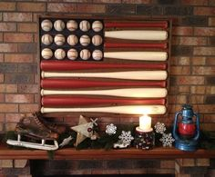 Would be perfect for my game room! Baseball Flag for the man cave. He doesn't know it but this is totally going in the man cave Baseball Bedroom Decor, Baseball Flag, Baseball Bat Decor, Baseball Chair, Baseball Furniture, Better Baseball, Baseball Stuff, Man Cave Diy, Home Decoracion