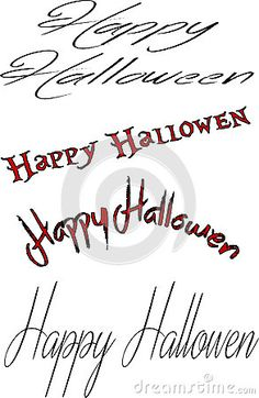 Happy Halloween sign collage Illustration of Text message ;Happy Halloween; on white background.