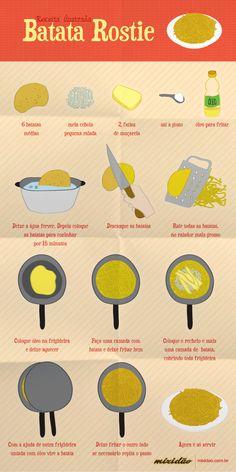 """batata rostie ou recheada! eu coloco creme de leite na batata em forma de purê. fica uma """"diliça""""! e ainda pode variar os recheios"""