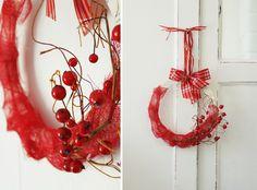 Christmas Decorations – Wieniec wianek świąteczny czerwony na drzwi – a unique product by HAART on DaWanda