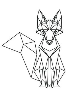 Tattoo Geometric Fox Origami 67 Ideas For 2019 Tape Art, Geometric Fox, Geometric Drawing, Geometric Lines, Geometric Tattoos, Geometric Origami, Origami Design, Animal Coloring Pages, String Art