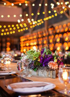 Bistro Lights!  Create old world charm with Italian bistro lights, hung in rows, zigzagged, or swagged. They cover the entire swath of your dance floor, dining area, patio, or anywhere!  Lighting Design by Got Light.