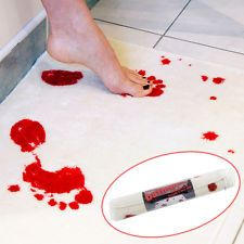 Unique Blood Footprints Bathroom Mat Horror Movie Psycho Bath Mat Shower Rug Pad