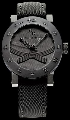The Black Belt Watch, Only For People With Black Belts.  Arpa and a few others have collaborated on a new watch concept called the Black Belt Watch. The idea is a watch that will only be sold to people who actually have earned black belts. The watch will be officially launched at the end of October, 2009 at a martial arts fighting event.