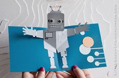Robot pop-up card