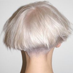 Summer Trend for 2014: Texturized Platinum Bob with Pastelled Undercut #Texturizedbob #Undercut #Pastelled Hair By Rachel Rodriguez #Shorthair #Hairstyles2014