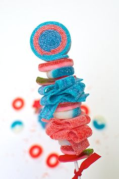 Star Spangled Sweet Skewer 4th of July Sweets by Sweets Indeed
