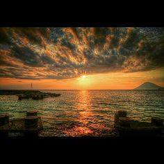 Beautiful sunset from our private jetty Grand Luley Resort Manado