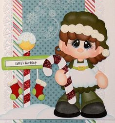 ELITE4U CRAFTECAFE JULIE Christmas border 4 scrapbook page album paper piecing