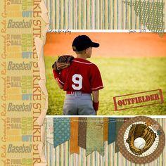 Baseball Digital Scrapbooking Collection Mini