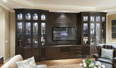 Custom built entertainment center by Englund Construction.  Englundhomes.com