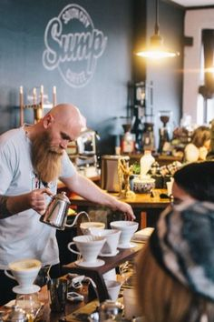 Sump Coffee Shop - St Louis inspiration to be a barista. My Coffee Shop, Coffee Shop Design, Coffee Cafe, V60 Coffee, Cozy Coffee, Drink Coffee, Cafe Shop, Cafe Bar, Cafe Restaurant