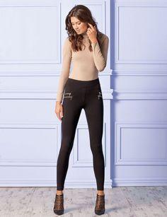 Legging femme pantalon moulant sexy haute qualité GATTA LOU S M L