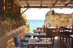 Caniço Restaurant – Breathtaking Views by Day, Beach Party at Night If the waves were bad, I would wile away the hours here, sipping coffee and eating Portuguese pastries – Algarve, Portugal Hotels In Portugal, Portugal Vacation, Portugal Travel, Spain Travel, Alvor Portugal, Faro Portugal, Spain And Portugal, Lagos Algarve, Surfing Pictures