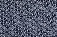 Stoff Blumen - 538 Jersey Blüten Dunkelblau Weiß - ein Designerstück von my-kati…