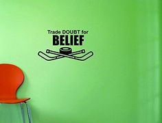 Design with Vinyl Top Selling Decals Trade Doubt for Belief Wall Art, 10