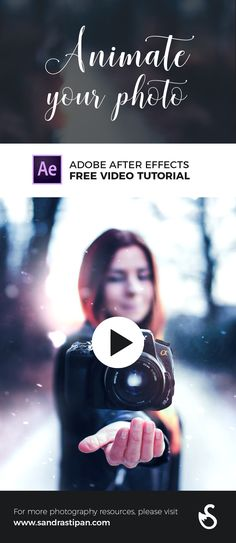 In this quick tutorial I will show you how to animate a still image in Adobe After Effects and create an infinite loop.  It is actually very easy & simple!  Download my Free & Premium Photography Resources: http://sandrastipan.com/shop/