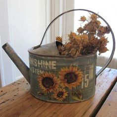 Sunflower Watering Can $19.50