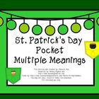 Free! multiple meaning words w St. Patrick's Day theme.