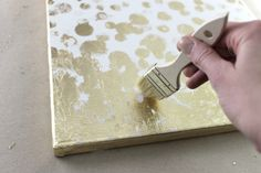 how to gold leaf