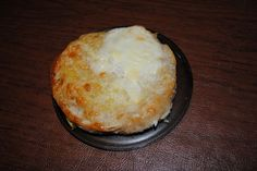 baked egg and cheese English muffin