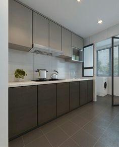 Clean kitchen layout
