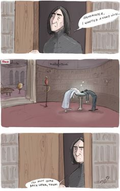 Considering the pensieve-Severus Snape, Albus Dumbledore, Harry Potter Harry Potter World, Fanart Harry Potter, Harry Potter Universe, Harry Potter Humor, Estilo Harry Potter, Fans D'harry Potter, Arte Do Harry Potter, Harry Potter Comics, Yer A Wizard Harry