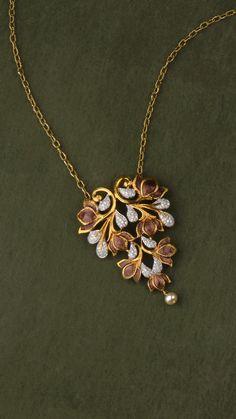 AZVA diamond pendant in gold with enamel flowers Jewelry Design Earrings, Gold Jewellery Design, Gold Jewelry, Ear Jewelry, Jewelry Necklaces, Jewelry Model, Diamond Pendant, Fashion Jewelry, 18k Gold