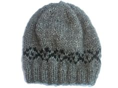 Knit Baby hat, Fair Isle Baby Hat,  Alpaca hat Merino Beanie, Baby Boys Hat, Grey baby Hat by thekittensmittensuk on Etsy