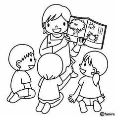 Kindergarden teachers coloring pages School Coloring Pages, Colouring Pages, Coloring Books, Free Coloring, Art Drawings For Kids, Drawing For Kids, Easy Drawings, Preschool Colors, Preschool Activities