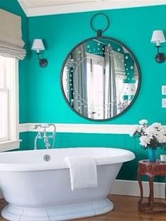 Teal Bathroom love the color  #design #home #love #decor #sheetstreet #teal