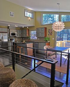Great Room midcentury ranch makeover Asheville