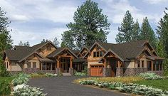 Every mountain home needs a bunk room. Architectural Designs Mountain House Plan 23610JD has that base covered.