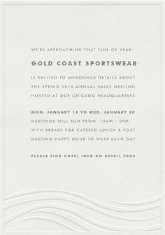 Rehearsal dinner invitations formal invites charity event letterpress waves invitations in white stopboris Choice Image