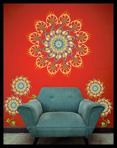 love the wall mandalas! https://www.facebook.com/pages/Healthy-Vibrant-You/381747648567846