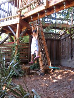 Relatively compact play structure with everything. Barbara Butler-Extraordinary Play Structures for Kids -Log Lookout