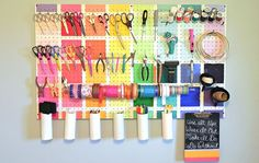 s 23 insanely clever ways to eliminate clutter, organizing, storage ideas, Upcycle Some Easy Tool Storage
