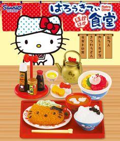 Re-Ment Sanrio Hello Kitty Retro Dinner Restaurant Food Rice Tea Pot Set of 8 #ReMent