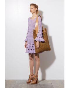 MICHAEL KORS Floral Hand-Crochet Dress