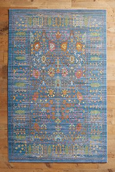 Anthropologie Penshurst Antique Persian Floral Style Rug, Blues & Greens, NEW Area Rug Placement, Anthropologie, Blues, Persian Pattern, Natural Fiber Rugs, Up House, Tiny House, Old World Style, Floral Rug