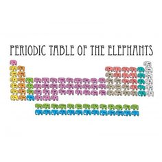 Periodic Table Of The Elephants.
