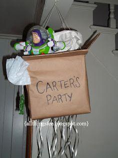 Toy Story Moving Box Pinata {A Tutorial!}