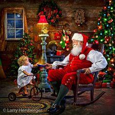 Santa with children.